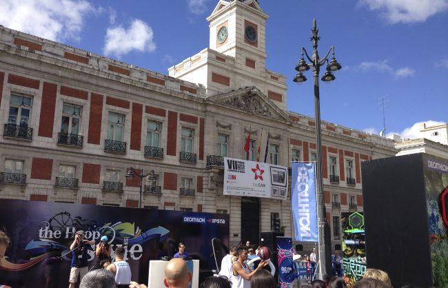 Montaje Evento Decathlon Puerta del Sol de Madrid