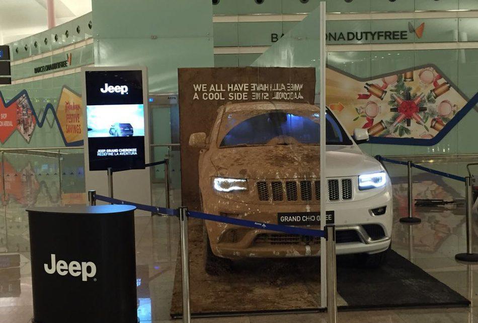 Producción de Eventos. Plasma, Lona y Stand Presentación Jeep Grand Cherokee